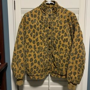 Blank NYC leopard quilted jacket